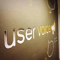 Chalk wall at UserVoice entrance